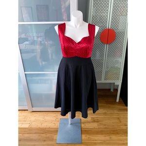 Torrid Retro Chic Polka Dot Swing Dress